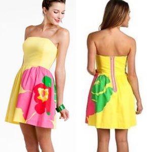 Lilly Pulitzer Lottie Starfruit Strapless Dress 12
